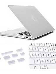 "cheap -Case for MacBook Pro 13.3"" with Retina Display Solid Color Plastic Material 3 in 1 Matte Case with Keyboard Cover and Silicone Dust Plug"