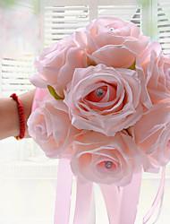 "cheap -Wedding Flowers Bouquets Wedding Polyester Satin Foam 9.06""(Approx.23cm)"