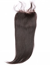 Natural Black U Part Straight Human Hair Closure Medium Brown Chinese Lace gram Average Cap Size