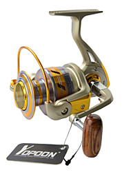 cheap -EF2000 Japan Technology Fishing Reels Quality 5.5:1 Carp Wheel Fish Reel 10 Balls Bearing+1 Roller Bearing