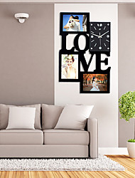cheap -Wall Clock with Fashion Love Picture Frame Function Design