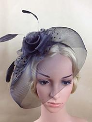Недорогие -перья чистые факсинирующие цветы birdcage вуали головной убор элегантный стиль