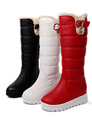 cheap -Women's Shoes Platform Snow Boots/Round Toe Boots Dress Black/Red/White