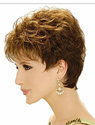 cheap -Europe And The United States  Sell Like Hot Cakes Golden Brown Old Short Curly Wig