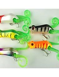 """10 pc Popper Esca Popper g/Oncia mm/2-1/4"""" pollice,Plastica dura Pesca di mare Pesca di acqua dolce Pesca persico"""