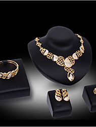 abordables -Collar / Pendiente / Brazalete / Anillo ( Baño en Oro / Aleación / Zirconia Cúbica )- Bonito / Fiesta para Mujer