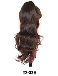 Недорогие -Конские хвостики Искусственные волосы Волосы Наращивание волос Естественные волны