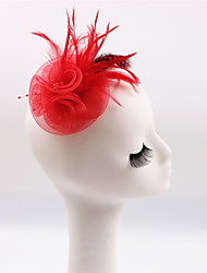 abordables -Plume Coiffure Casque