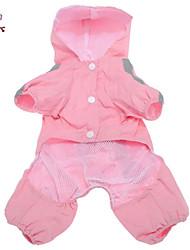 preiswerte -Katze Hund Regenmantel Hundekleidung Solide Rot Rosa Fasergemisch Kostüm Für Haustiere Herrn Damen Winddicht Wasserdicht