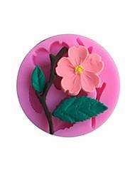 flor de pêssego flor de pêssego em forma fondant bolo molde decoração molde