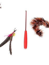 Cat Toy Dog Toy Pet Toys Teaser Feather Toy Stick Plastic