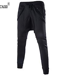 Pantaloni della tuta Uomo Casual / Attività sportive / Taglie forti Con stampe / A quadri Misto cotoneNero / Blu / Marrone / Verde /