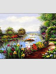 Hånd-malede Landskab Horisontal, Moderne Europæisk Stil Lærred Hang-Painted Oliemaleri Hjem Dekoration Et Panel