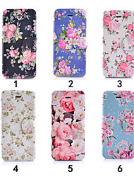 cheap -Colourful Flower Ultra Thin View Window Flip Cover PU Leather Case for iPhone 5C(Assorted Colors)