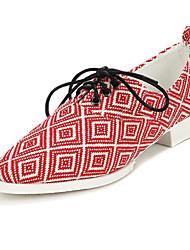 cheap -Women's Spring Summer Fall Winter Fabric Outdoor Dress Casual Flat Heel Black Red