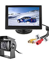 Недорогие -renepai® 5-дюймовый HD-монитор + автобус 170 ° HD автомобильная камера заднего вида Водонепроницаемая камера длина кабеля 6 м, 10 м, 16 м,