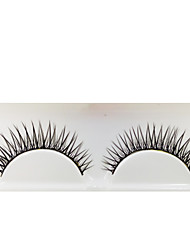 cheap -1 Eyelashes lash Full Strip Lashes Eyes The End Is Longer Machine Made Fiber Black Band 0.05mm 12mm