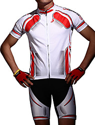 cheap -Acacia Short Sleeve Cycling Jersey with Shorts - Red / Blue Bike Shorts / Jersey / Clothing Suit, Anatomic Design, Breathable Polyester / Stretchy