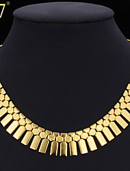 cheap -U7® Women's New Trendy African Jewelry Platinum/18K Real Gold Plated Fashion Jewelry Geometric Ethiopian Collar Necklace