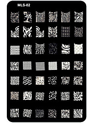 Nail Art Stamping/Stamper Image Template Plate Nail Stencils/Molds for Acrylic Nail Tips MLS Series NO.2