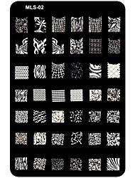 Недорогие -ногтей тиснения / штампа изображения шаблон пластины ногтей трафареты / формы для акриловых ногтей советы мл серия № 2