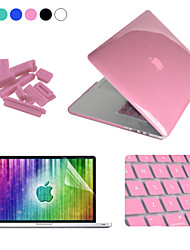 "cheap -Enkay Case for Macbook Pro 13"" Solid Color Plastic Material 4 in 1 Crystal Hard Protective Case + Screen Protector + Keyboard Film + Anti-dust Plugs"