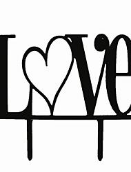 Недорогие -Украшения для торта Персонализированные не Акрил Свадьба / Годовщина / Девичник Черный Сад 1 Пенополиуретан