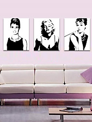 cheap -VISUAL STAR®Audrey Hepburn Stretched Canvas Print Marilyn Monroe Star Home Decoration Arts
