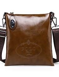 Men Bags All Seasons PU Shoulder Bag with for Formal Office & Career Black Brown