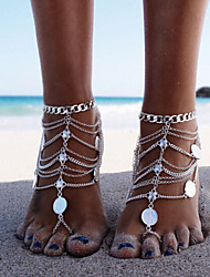 Women's Anklet/Bracelet Alloy Tassel Punk Multi Layer Vintage Bikini Costume Jewelry Jewelry Jewelry For Party Beach