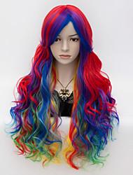 cheap -Long Red Mixed Yellow 75cm Curly Fashion CosplayLolita Punk Rock Harajuku Wig