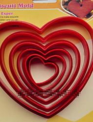 Недорогие -Мода пластиковые печенье резак отслаиваться сердца десерты печенье плесень торт украшение кухня Формы для выпечки инструменты для