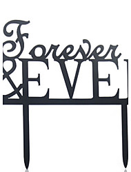 cheap -Cake Topper Monogram Acrylic Wedding Anniversary Bridal Shower with 1 OPP