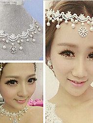 cheap -Women's Cute Party Imitation Pearl Cubic Zirconia Alloy Head Chain - Solid Colored