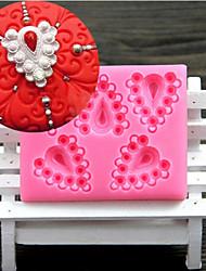 Недорогие -сердце алмазов формы помады торт шоколадный силиконовые формы, отделочные инструменты посуда