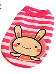 abordables -Chat Chien Tee-shirt Vêtements pour Chien Bande dessinée Rose Coton Costume Pour les animaux domestiques Homme Femme Mignon Décontracté /