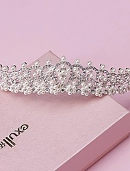 cheap -Pearl Rhinestone Alloy Tiaras Headwear with Floral 1pc Wedding Special Occasion Headpiece
