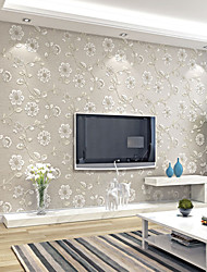 Contemporary Wallpaper Art Deco 3D Large Flower Leaves Wallpaper Wall Covering Non-woven Fabric Wall Art