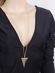 cheap -Women's Alloy Pendant Necklace - Alloy Fashion Triangle Geometric Necklace For