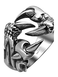cheap -Men's Ring - Stainless Steel Dragon Personalized, Fashion 9 / 10 / 11 Silver For Halloween / Daily / Casual