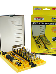 Недорогие -rewin® 45pcs инструмент профессиональный электрический отвертка