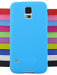 cheap -Case For Samsung Galaxy Samsung Galaxy Case Back Cover Solid Colored Silicone for S4 Mini