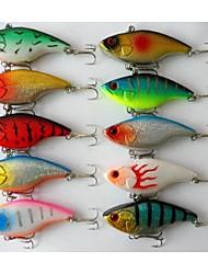 """10 pçs Vibração Iscas Vibração Verde Rosa Branco Amarelo Azul Vermelho Cores Sortidas g/Onça,75 mm/3"""" polegada,MetalPesca de Mar Pesca de"""