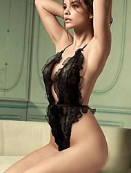 Woman's Sexy Underwear Black Lace Three Point Temptation Set Big Sexy Pajamas