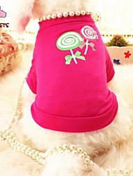 cheap -Cat Dog Shirt / T-Shirt Dog Clothes Pearl Rose Cotton Costume For Pets Cosplay Wedding