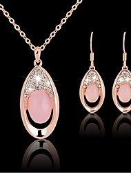 May Polly Natural crystal necklace earrings set