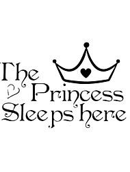 principessa dorme adesivi murali camera da letto decorativo