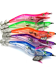 Hengjia LED Squid Jig Fishing Lures 5pcs/Set 128mm 21g (Color Assorted)