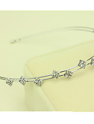 cheap -South Korea Imported Hairpin Rhinestone Beaded Head Hoop Decorations Double Row Diamond Hair Band