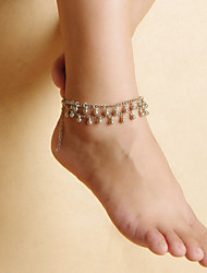 Недорогие -модные женщины пляж йога танец падает литые кисти двойной браслеты цепи